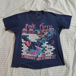 VINTAGE 1980's 1987 PINK FLOYD USA TOUR T-SHIRT